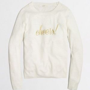 J Crew cheers! Embroidered Wool Sweater! 🥂